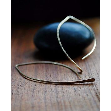 Crescent Hoops - Silver and Gold