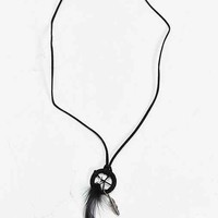 Icon Brand Feather Dreamcatcher Necklace