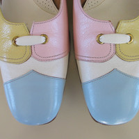 NOS Vintage 60's Florsheim Ramblers shoes heels pumps in pastel Easter colors..too COOL