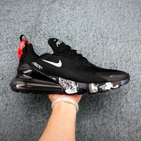 Nike Air Max 270 Black/ White Graffiti Running Shoes - Best Deal Online