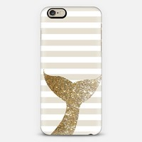 GLITTER SIRENE TAIL IN GOLD - PHONE CASE iPhone 6 case by Nika Martinez   Casetify