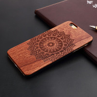 New Brand Thin Luxury Bamboo Wood Phone Case For Iphone 5 5S 6 6S 6Plus 6S Plus 7 7Plus Cover Wooden High Quality Shockproof