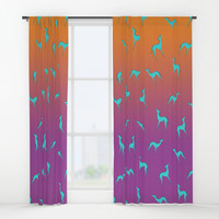 Greyhound Window Curtains by edrawings38