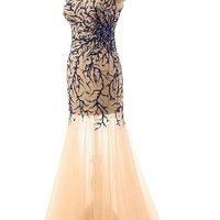 Sunvary Sexy Sheath Cocktail Prom Gowns for Mother of the Bride - US Size 26W- Champagne