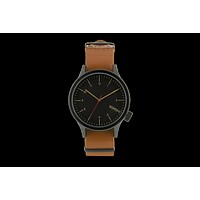 Komono - Magnus Black Cognac Watch