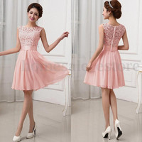 Sexy Lace Party Evening Summer Women Bridesmaid Casual Beach Formal Mini Dress