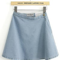 Denim Circle Casual Skirt