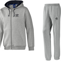 adidas Originals SPO Fleece Tracksuit - Grey