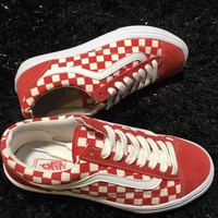 Vans Old Skool Checkerboard Red/White Sneaker