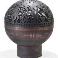 Good Directions FB-3 26-Inch Wrought Iron Fire Bowl with Full Moon Party FireDome