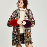 EMBROIDERED JACQUARD COAT