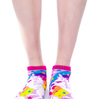 Hollywood Mirror Unicorns N' Rainbows Ankle Socks Multi