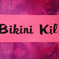 Bikini KIll Pink Fabric Sew On Patch