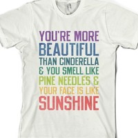 You're More Beautiful Bridesmaids Quote (Tee) |