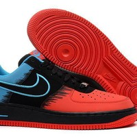 Nike Air Force 1 Spider-Man Red For Women Men Running Sport Casual Shoes Sneakers