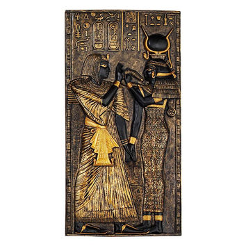 Isis Egyptian Temple Stele Plaque