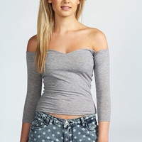Taylor Sweetheart Neck Off The Shoulder Top