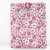 Girly IPad case, padded tablet sleeve, tiny pink flower fabric cover for IPad or IPad Air, tech gift, IPad Air cover, handmade in the UK