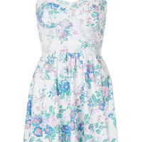 Petite Floral Corset Tunic - New In This Week - New In - Topshop USA