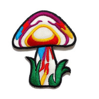 Mushroom - Cute Patch New Sew / Iron On Patch Embroidered Applique Size 5.6cm.x6.8cm.