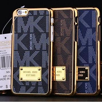Michael Kors MK Fashion Print Plated iPhone Phone Cover Case For iphone 7 7plus 8 8plus X XR XS MAX 11 Pro Max 12 Mini 12 Pro Max