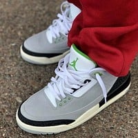 Nike Air Jordan 3 Retro Chlorophyll Basketball Shoes Sneakers