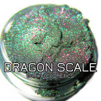 BESTSELLER Dragon Scale Emerald Green Purple Glitter Natural Mineral Eyeshadow Mica Pigment 10 Grams Lumikki Cosmetics