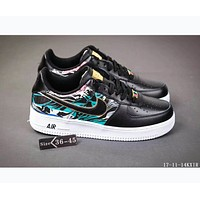 Nike AIR FORCE 1 joint BHMAFRICA African style F-SSRS-CJZX Black - color