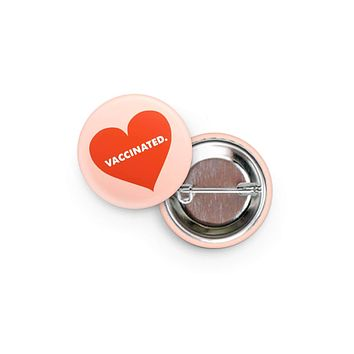 Vaccinated Heart Button
