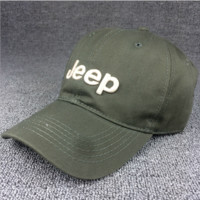 Dark Green JEEP Embroidered Baseball Cap Hat