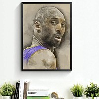 Kobe Bryant Basketball Star Art Canvas Poster 20x30 inches Picture For Room Decor