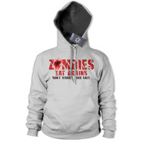 Zombies Eat Brains Your Safe Hoodie Funny Apocalypse Top Gaming Dead Walkers 220