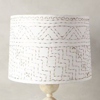 Stitched Kantha Lamp Shade by Anthropologie