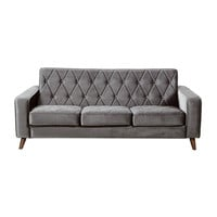 Cooper Square Sofa in Gray Velvet