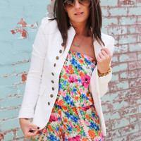 Knock Out Blazer {White}