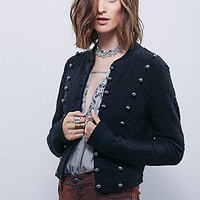 Free People Womens In The Band Textured Jacket