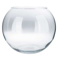 "10"" Clear Bubble Ball Vase 