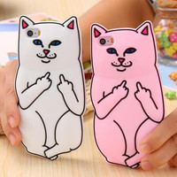 Middle Finger Cat Phone Case - FREE SHIPPING!