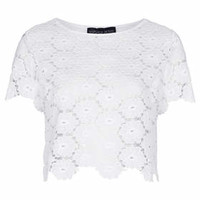 PETITE Exclusive Lace Tee - White