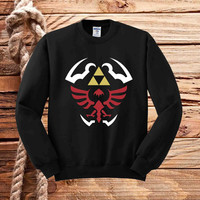 hylian shield sweater unisex adults
