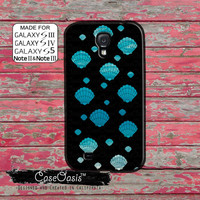 Seashell Ocean Pattern Mermaid Cute Blue Beach Tumblr Custom Galaxy S5 and S4 and S3 Case and Galaxy Note 2 and Note 3 Case