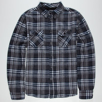 Fyasko Cobain Mens Flannel Shirt Grey  In Sizes