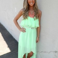 Belted High Low Dress