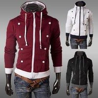 Winter Hoodies Men Ruffle Design Hats Jacket [6528674307]