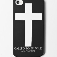 "Agape Attire — ""Called to be bold"" iPhone snap case"