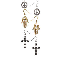 River Island | River Island Eclectic Dangle Three Pack Of Earrings at ASOS