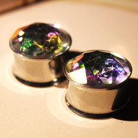 AB Crystal Stainless Steel Plugs