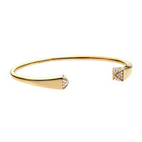 Crystallized Reverse Cuff, Golden/Clear - Michael Kors