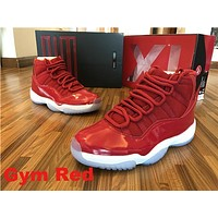 Air Jordan 11 Retro Space Jam Midnight Navy Gym Red Sport Shoes