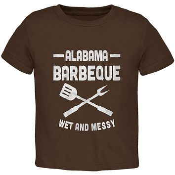 Alabama Barbeque Wet and Messy Toddler T Shirt